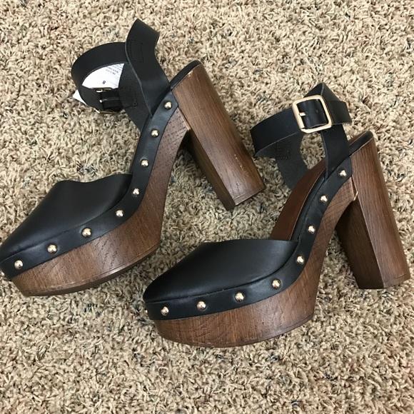 71bc1360a Mossimo Black Heeled Closed Toe Dress Mule Clogs